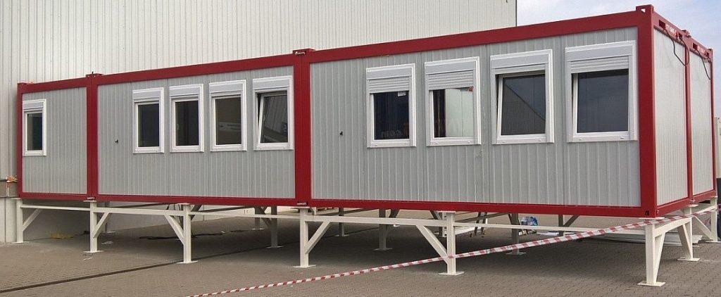 Zusätzliche Bürocontainer als Erweiterung