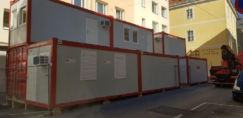 Bürocontainer-Anlage Bauleiterbüro