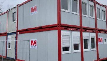 Mobilbox-Bürocontainer und Sanitärcontainern.