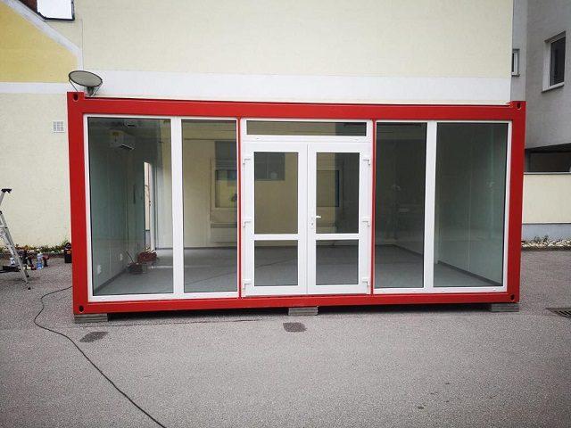 Container als Schauraum