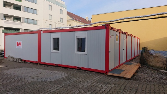 Umkleidecontainer in Wien